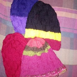 Other - 4 Handmade NEW Knitted Hats TOTAL $15